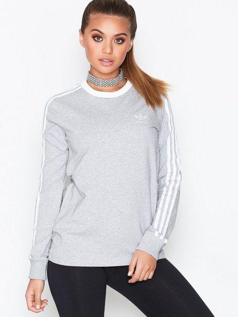 Billede af Adidas Originals 3Stripes LS Tee Langærmede toppe Grey