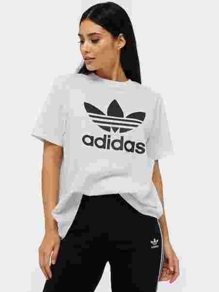 6a9bdccb00 Trefoil Tee - Adidas Originals - White - Tops - Clothing - Women ...