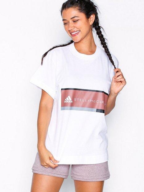 Billede af Adidas by Stella McCartney Ess Logo Tee Loose-fit Top Hvid