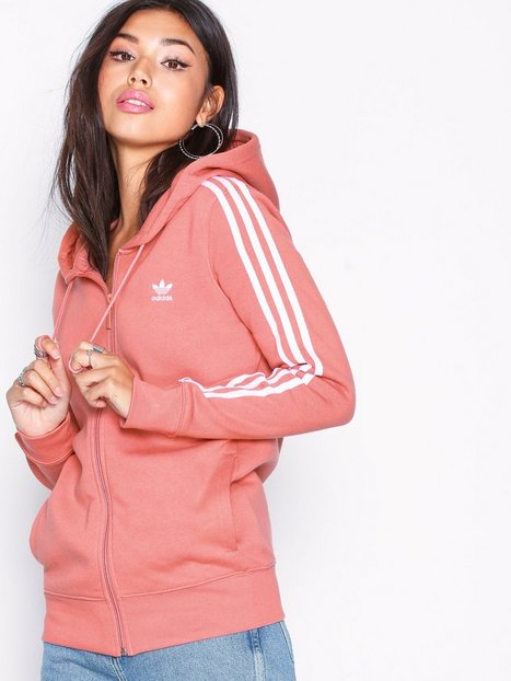 Billede af Adidas Originals 3 Stripes Zip Hoodie Hættetrøjer Rose