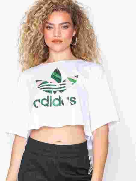 e73c1840abbe6c Cropped Tee - Adidas Originals - White - Tops - Clothing - Women ...
