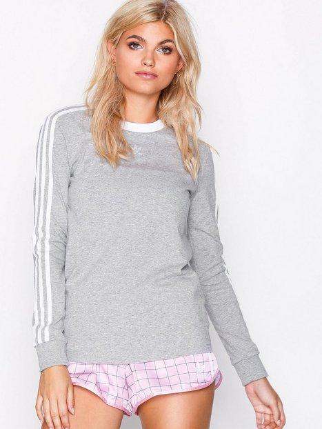 Billede af Adidas Originals 3 Stripes Ls Langærmede toppe Grå