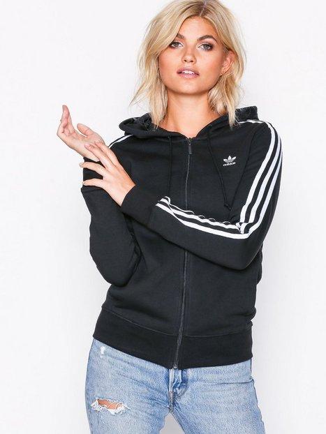 Billede af Adidas Originals 3 Stripes Zip Hoodie Hættetrøjer Sort