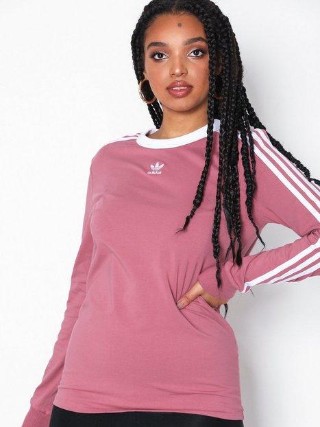 Adidas Originals 3 Stripes Ls Langærmede toppe Maroon
