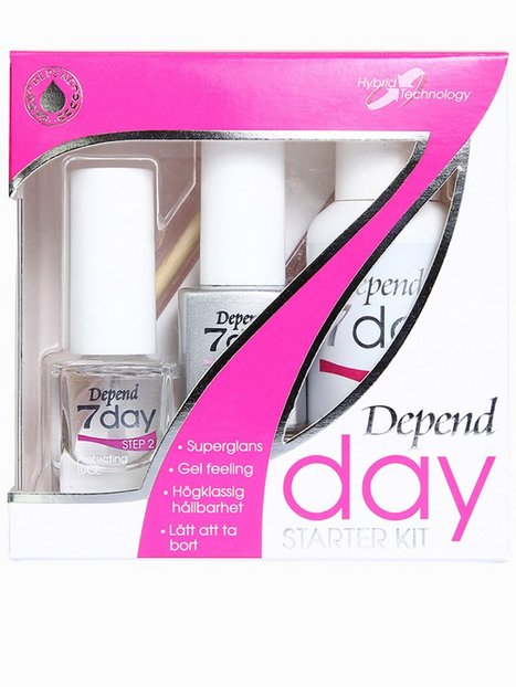 Billede af Depend 7day Starter Kit Neglelak Transparent