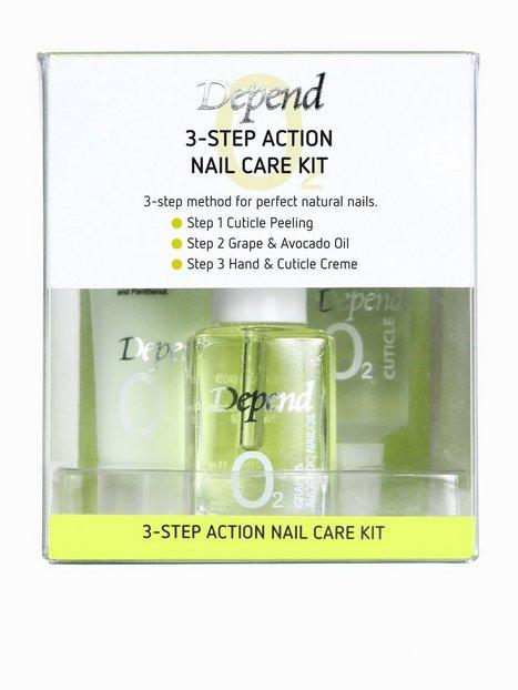 Billede af Depend 3-Step Action Nail Care Kit Neglepleje Hvid