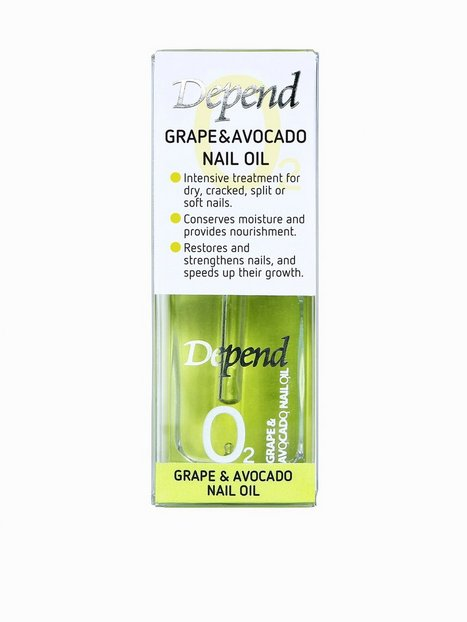 Billede af Depend Grape & Avocado Nail Oil 11 ml Neglepleje Transparent