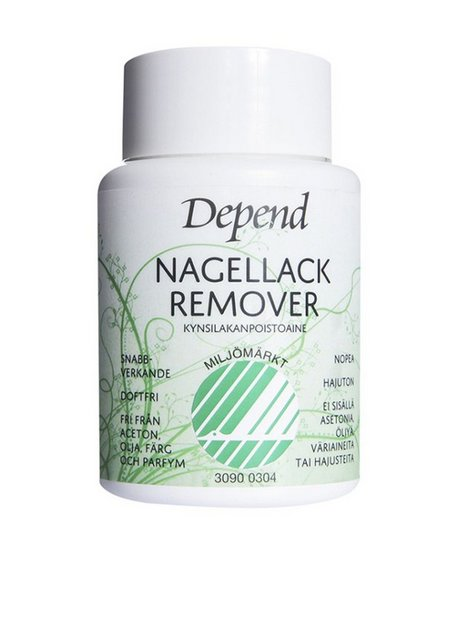 Billede af Depend Nail Polish Remover Dip in - Miljömärkt Make up fjerner Transparent