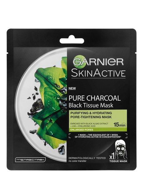 Billede af Garnier Charcoal Tissue Mask Black Algae Ansigtsmaske Sort