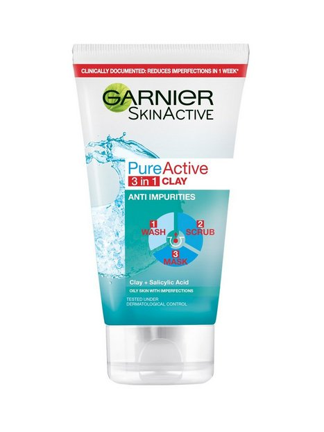 Garnier Pure Active 3 in 1 Wash Peeling & Mask Ansiktsrengöring