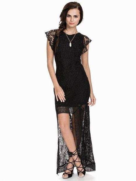 Billede af NLY ICONS Holy High-low Dress Kropsnære kjoler Sort