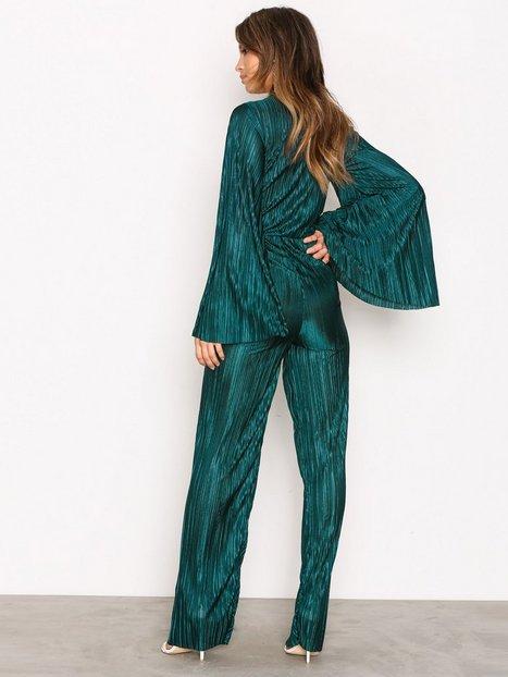 Pleated Kimono Jumpsuit