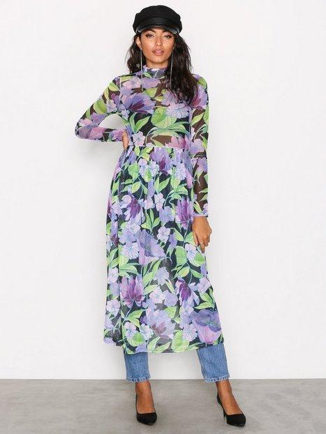 NLY Trend Print Mesh Dress Pitkähihaiset mekot Kukkainen thumbnail