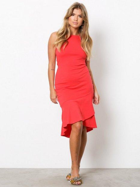 High Neckline Frill Dress
