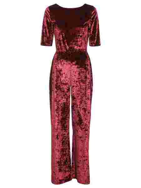 30900e0954c Low Back Velvet Jumpsuit - Nly Trend - Burgundy - Jumpsuits ...