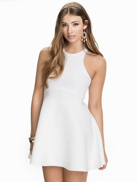 Billede af John Zack Structured Skater Dress Skaterkjole Cream
