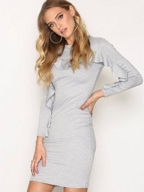 Billede af Sisters Point Clio Dress Langærmet kjole Grey Melange