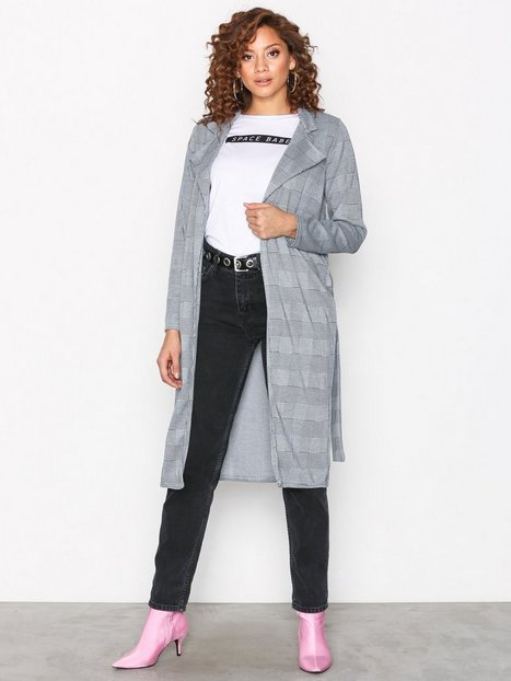 Billede af Sisters Point Check Print Coat Frakke Check Pattern