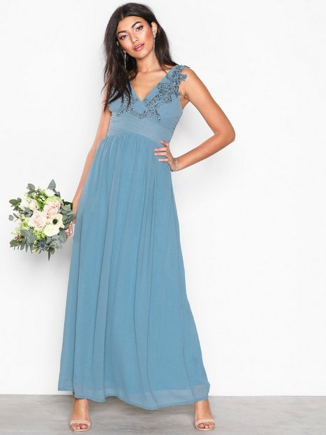 Nanny - L Dress - Sisters Point - Dusty Blue - Partykleider ...