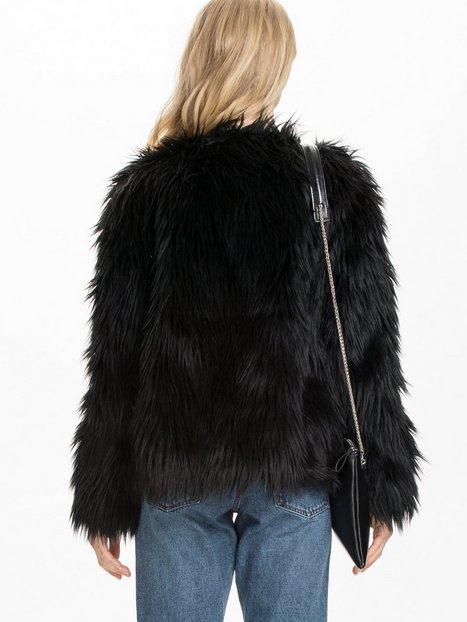 Fake Fur Jacket - Nly Trend - Schwarz - Jacken - Kleidung ...