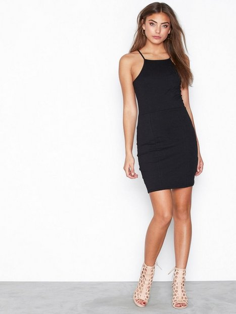 High neckline dress