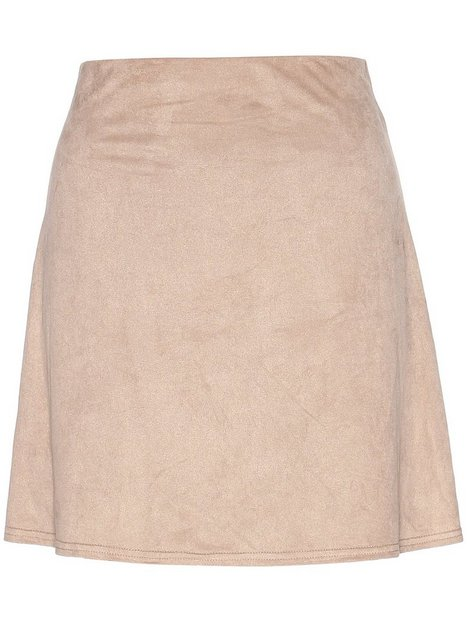 A Lined Suede Like Skirt