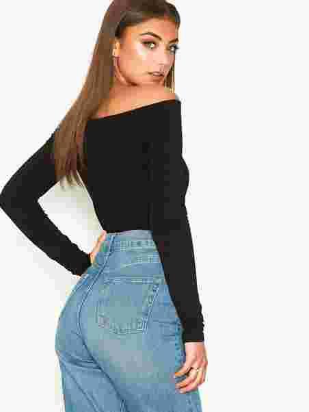 fed5368b95f1b2 Off Duty Shoulder Top - Nly Trend - Black - Tops - Clothing - Women ...