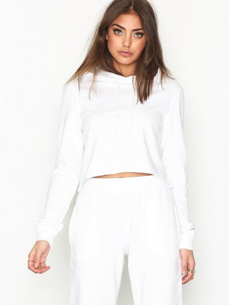 NLY Trend Cut And Cropped Sweat Sweatshirts Vit thumbnail