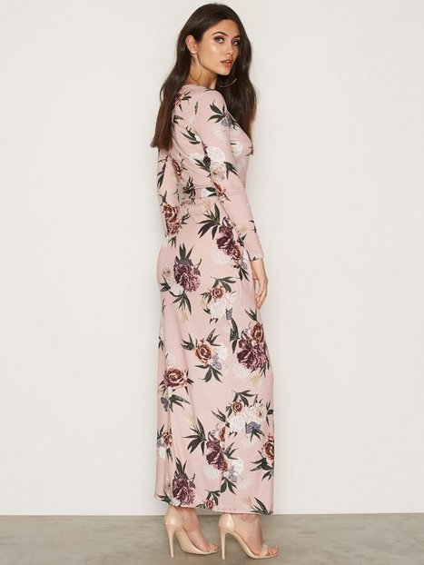 Jersey Printed Maxi Dress - Nly Trend - Flowers - Dresses ...