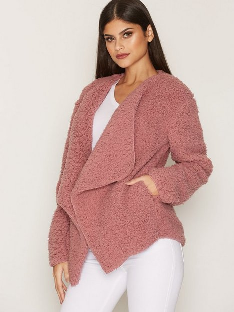 Teddy Soft Jacket - Nly Trend - Dusty Pink - Jackets - Clothing ...