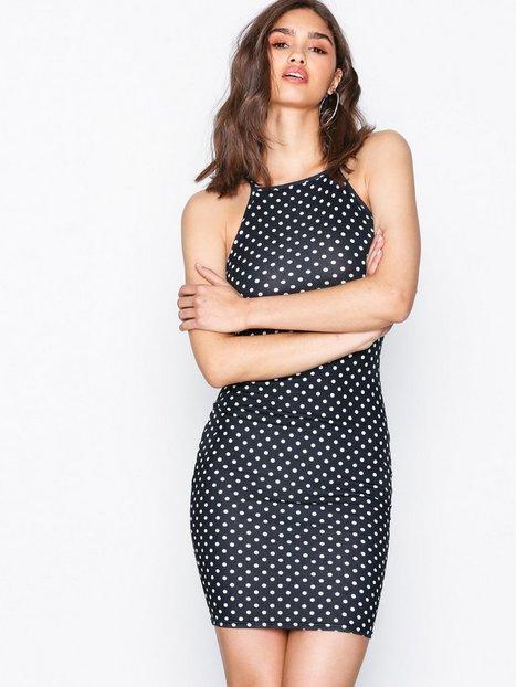NLY Trend Print Neckline Dress Kotelomekot Pilkullinen thumbnail