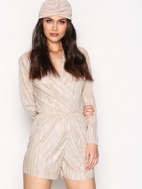 Billede af NLY Trend Pleated Playsuit Playsuits Champagne