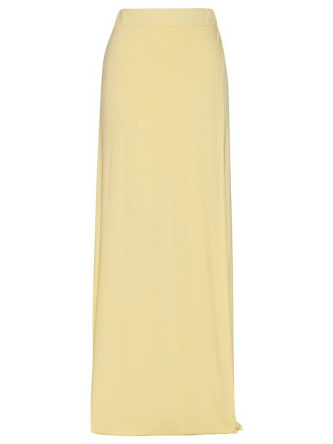 Flowy Maxi Skirt - Nly Trend - Yellow - Skirts - Clothing - Women ...