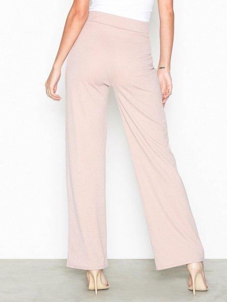 Billede af NLY Trend Crepe Straight Pants Bukser Beige