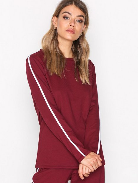 NLY Trend Sporty Sweat Sweatshirts Burgundy thumbnail