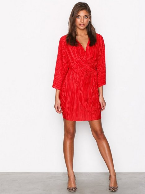 Knot Pleat Kimono Dress