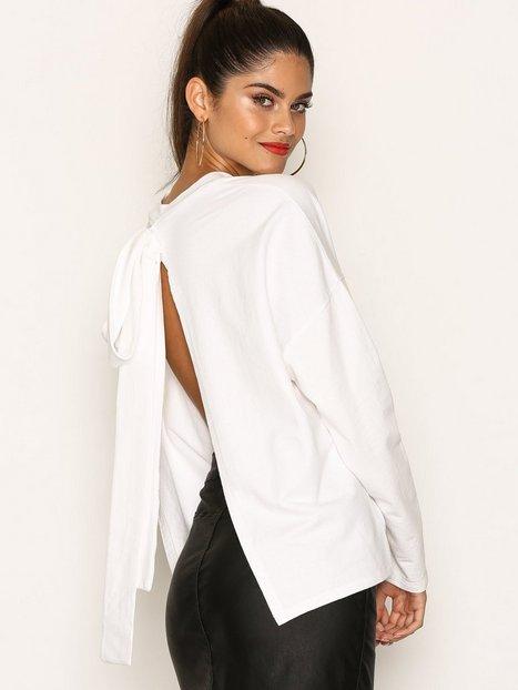 Billede af NLY Trend Back Knot Sweat Sweatshirt Hvid