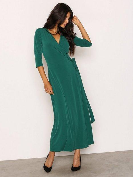 Billede af NLY Trend Ankle Wrap Dress Kjoler Grøn