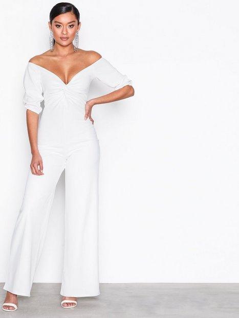 Billede af NLY Trend Bardot Jumpsuit Jumpsuits Hvid