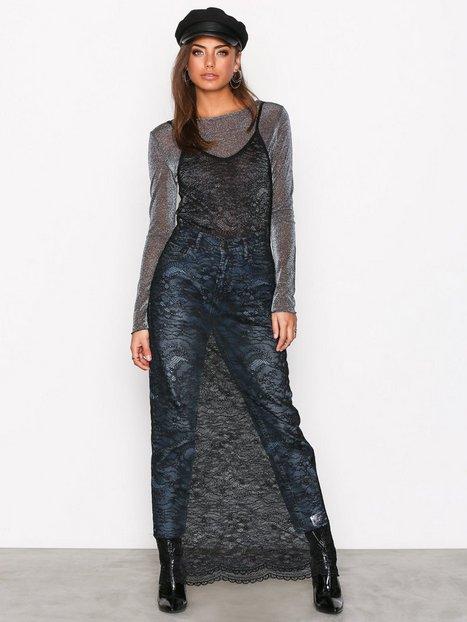NLY Trend Maxi Sheer Dress Maksimekot Musta thumbnail