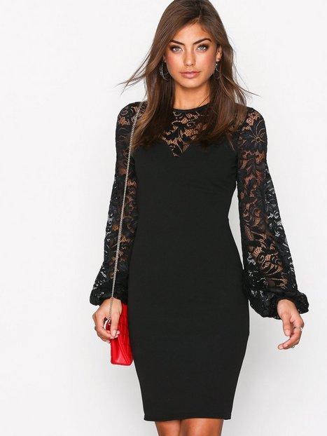 Billede af NLY Trend Balloon Sleeve Dress Kropsnære kjoler Sort