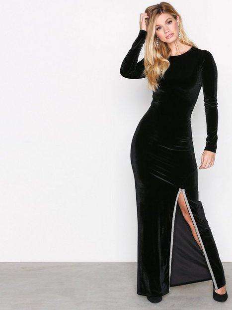 Billede af NLY Trend Brilliant Slit Maxi Dress Maxikjoler Sort