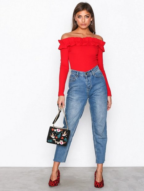 Jersey Frill Shoulder Top