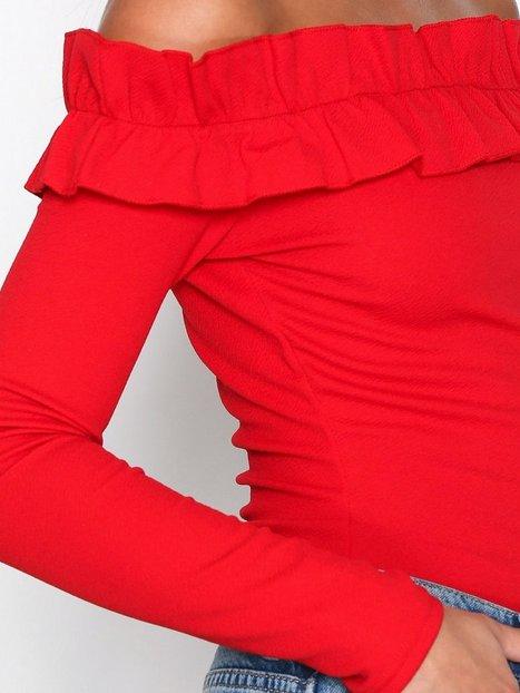 Jersey Frill Shoulder Top