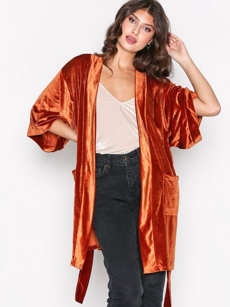 Billede af NLY Trend Velvet Solid Set Jacket Blazer Rustbrun