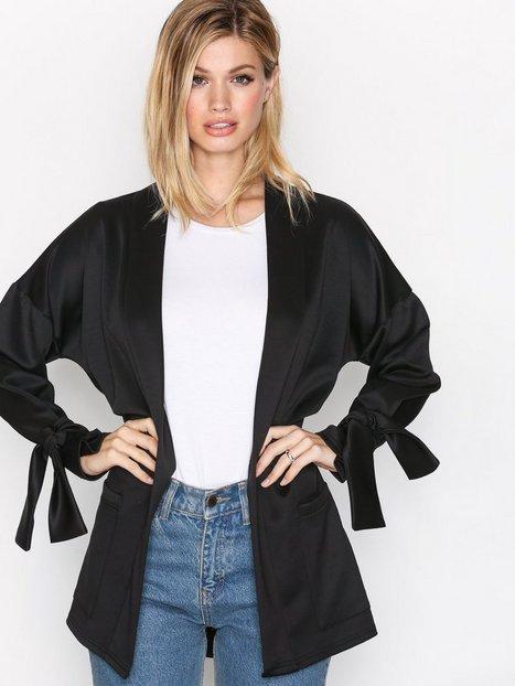 Billede af NLY Trend Tie Sleeve Jacket Blazer Sort