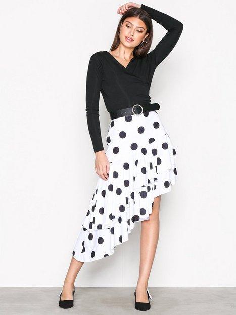 High Low Print Skirt