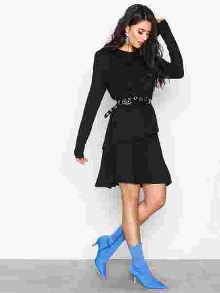 dc1028093f1cd Power Frill Dress - Nly Trend - Black - Party Dresses - Clothing ...
