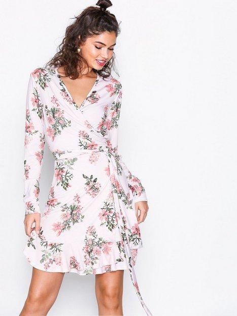 Jersey Frill Wrap Dress