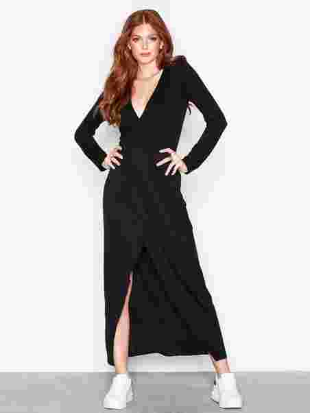 ede140dd4a9c Shoppa Long Sleeve Wrap Dress - Online Hos Nelly.com